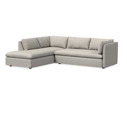 Shelter 2-Piece Terminal Chaise Sectional - Left Chaise -basket slub feather grey - West Elm