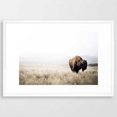 Bison stance Framed Art Print - Society6