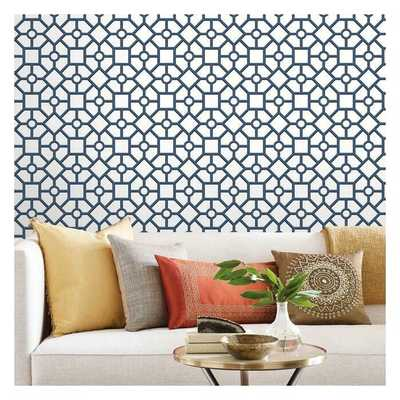 Hedgerow Trellis Peel and Stick Wallpaper - York Wallcoverings