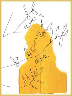 Olive - No matte - black frame - 16x20 - Artfully Walls