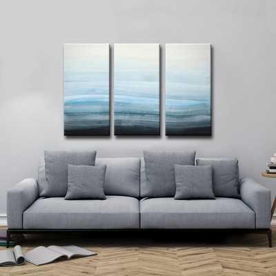 CCoastal Mist - 3 Piece Wrapped Canvas Painting Print Set - AllModern