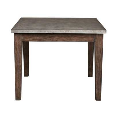 Right2Home Vintage Industrial Metal Wrapped Dining Table - Hayneedle