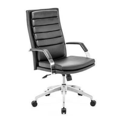 Director Comfort Black Office Chair - Home Depot