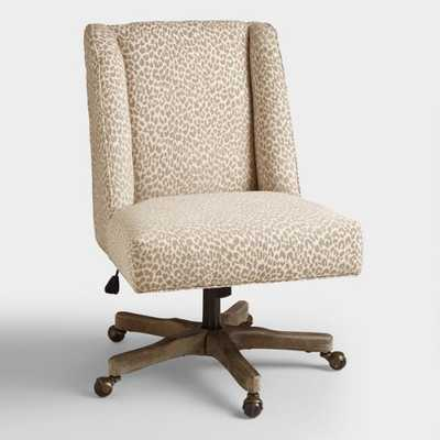 Mali Ava Upholstered Office Chair - Fabric by World Market - World Market/Cost Plus