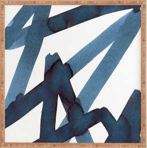 Assertion Artpiece - 30 x 30 Bamboo Frame - Wander Print Co.