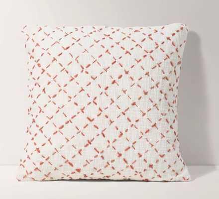 Terracotta Cross Hatch Pillow Cover- 18'' x 18'' - Burrow