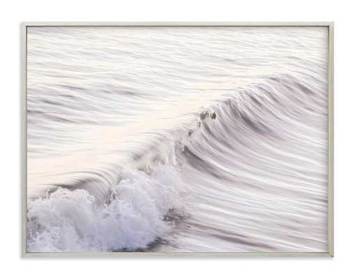 "Cayucos Soft Waves - 40"" x 30"", champagne silver frame - Minted"