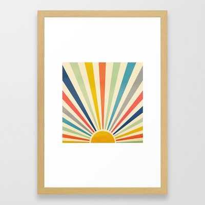 Sun Retro Art III Framed Art Print - Society6