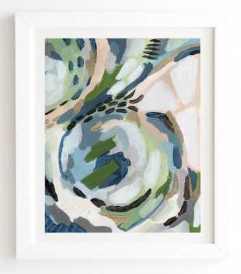 "GREENERY White Framed Wall Art By Laura Fedorowicz  (10.5"" X 12"" Framed) - Wander Print Co."