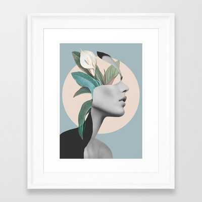 Floral Portrait /collage Framed Art Print - Society6