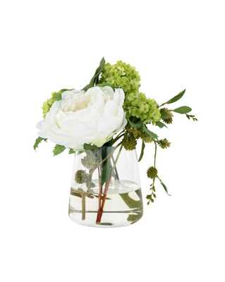 FAUX PEONY SNOWBALL ARRANGEMENT - McGee & Co.