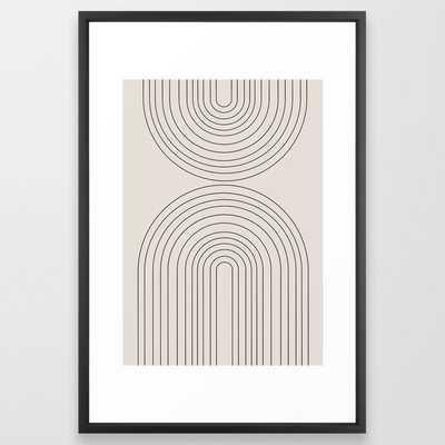 "Arch Art Framed Art Print, 26"" x 38"", Vector black frame - Society6"