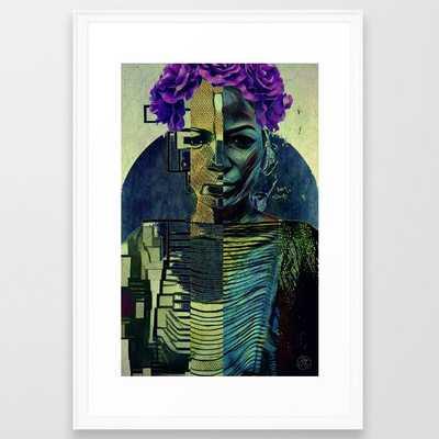 Purple Queen Framed Art Print - Society6