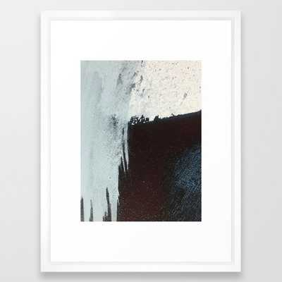 Like A Gentle Hurricane [3]: A Minimal, Abstract Piece In Blues And White By Alyssa Hamilton Art Framed Art Print by Alyssa Hamilton Art - Vector White - MEDIUM (Gallery)-20x26 - Society6