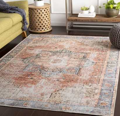 Mya Oriental Rose/Blue/Beige Area Rug - Wayfair