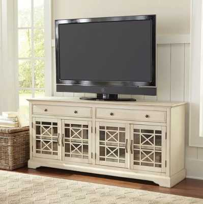 """Daisi TV Stand for TVs up to 70"""" in Antique White - Wayfair"""
