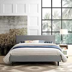 ANYA QUEEN BED IN LIGHT GRAY - Modway Furniture