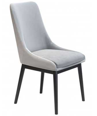 Ashmore Velvet Dining Chair (Set of 2) Gray - Zuri Studios