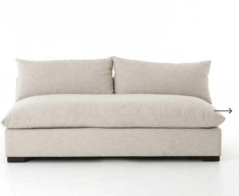 Grant Armless Sofa in Oatmeal - Burke Decor