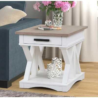 Sarita End table with storage - Wayfair