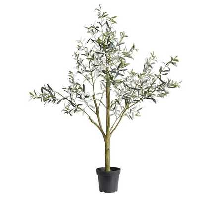 """Faux Potted Olive Tree, L 71"""" - Pottery Barn"""
