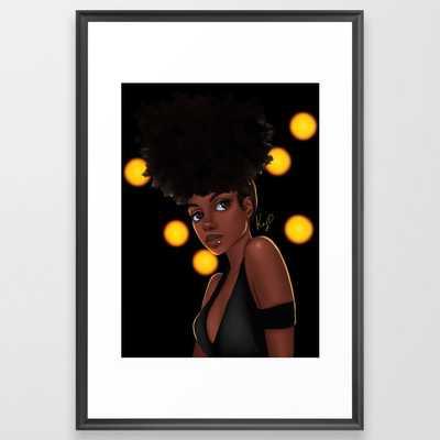 66 Electric Framed Art Print - Society6