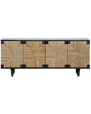 WESLEY 4-DOOR SIDEBOARD, PALE - McGee & Co.