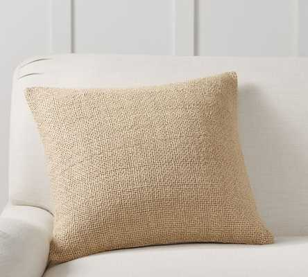 "Faye Textured Linen Pillow Cover, 20"", Flax - Pottery Barn"