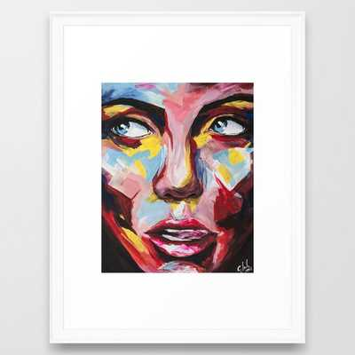 Impertinent II by carographic Framed Art Print - Society6