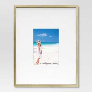 Thin Metal Matted Gallery Frame Gold - Project 62™ - Target