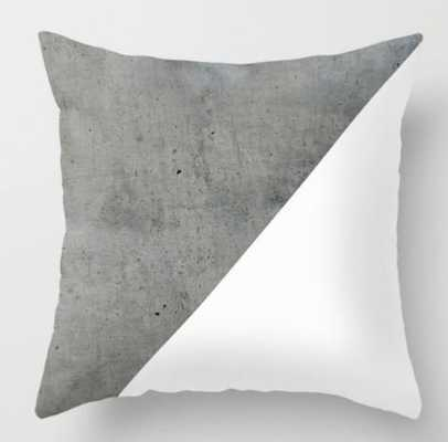 Concrete Vs White Throw Pillow - Society6