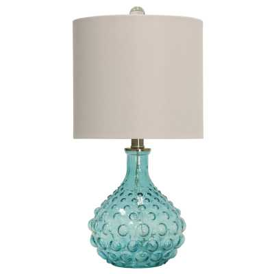 "O'Shaughnessy Bubble Glass 20"" Table Lamp - Wayfair"