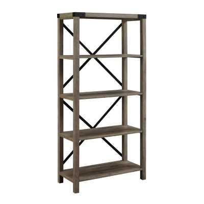 Arsenault Etagere Bookcase / Gray Wash - Wayfair