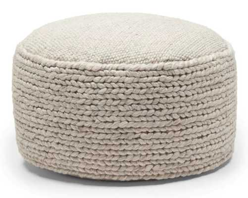 "Hira Natural Ivory 30"" Ottoman - Article"
