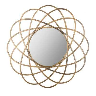 Aram Gold Metal Wall Mirror - Wayfair