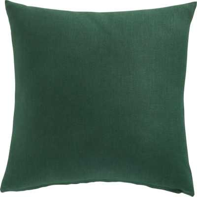 "20"" Linon Evergreen Pillow with Down-Alternative Insert - CB2"