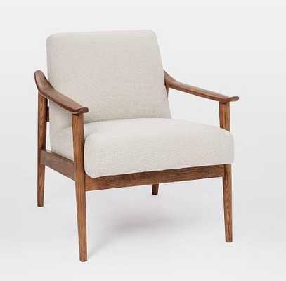 Mid-Century Show Wood Chair Chunky Basketweave, Stone - West Elm