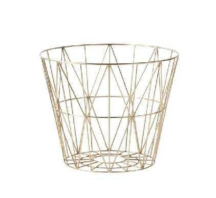 Medium Brass Wire Basket by Ferm Living - Burke Decor