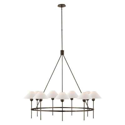 HACKNEY LARGE CHANDELIER - BRONZE - McGee & Co.