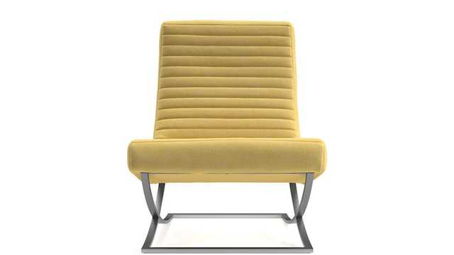 Cooper Armless Channel Chair, Devon, Maize - Crate and Barrel
