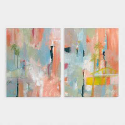 Desert Living by Jan Weiss Canvas Wall Art Set of 2: Multi - Large by World Market - World Market/Cost Plus