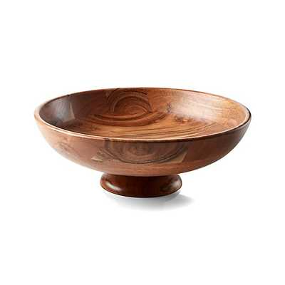 Carson Acacia Footed Fruit Bowl - Crate and Barrel