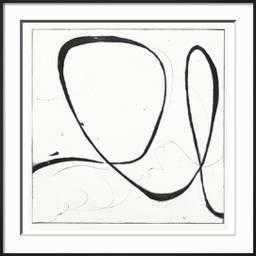 "Big Swirl 2 By Susan Gillette- 30"" x 30""- Frame Ronda Ii Black- Framed Premium Giclee Print- Frame Ronda Ii Black - art.com"