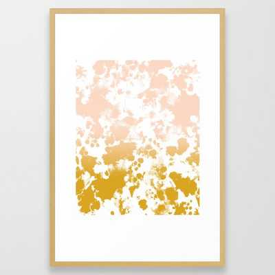 Minimal Modern Ombre Gold To Pastel Pink Abstract Art Pattern Gender Neutral Framed Art Print by Charlottewinter - LARGE (Gallery)-26x38 - Society6