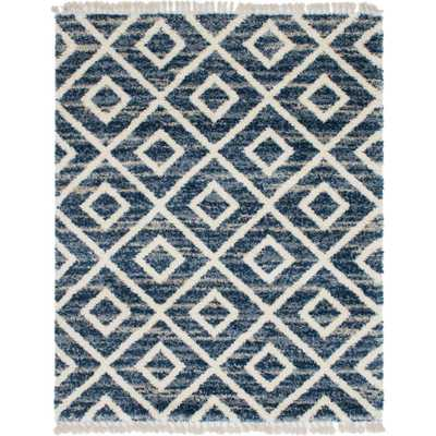 Hygge Shag Diamond Blue 8 ft. x 10 ft. Area Rug - Home Depot