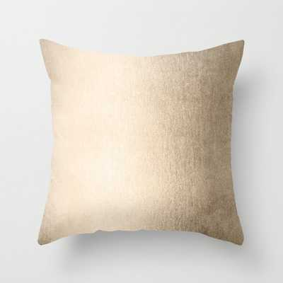 White Gold Sands Throw Pillow - Society6