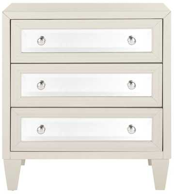 Leandro 3 Drawer Accent Chest - Gray - Wayfair