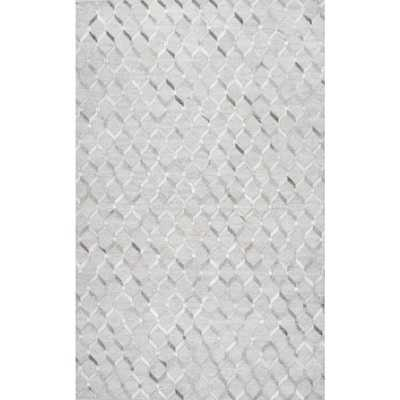 Cowhide Grenier Grey 8 ft. x 10 ft. Area Rug - Home Depot