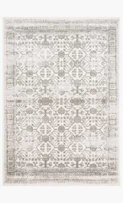 "Joa-04 Ivory / Grey /  7'10x10'10"" - Loma Threads"