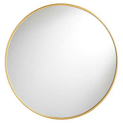 Metal Framed Mirrors, Round, Brass - Pottery Barn Teen
